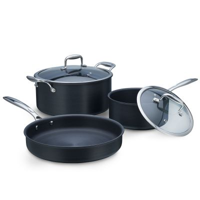 5 Pcs Taurus Hard-Anodized Cookware Set