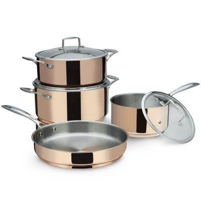7 Pcs Caspian Stainless Steel Cookware Set