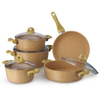 9 Pcs Provence Granitec Cookware Set