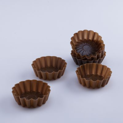 Terra 6 Pcs Silicone Flower Shaped Muffin Moulds