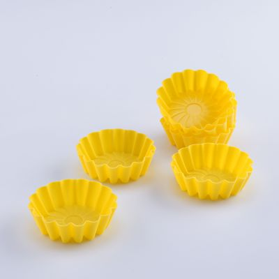 Solis 6 Pcs Silicone Flower Shaped Muffin Moulds