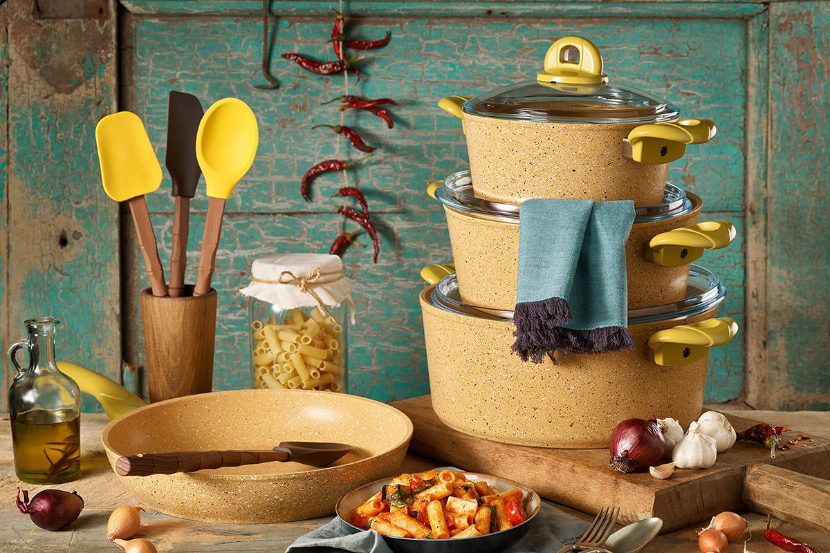 7 Pcs Provence Granitec Cookware Set